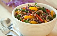 I have probably pinned this before, but just in case I haven't, this Rainbow Kale Salad looks amazing.