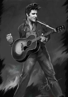 Elvis Presley art work by Sara Lynn Sanders