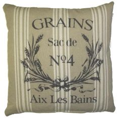 "French Laundry Pillow ""Grains"""