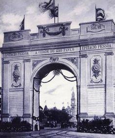 O Arco do Triunfo de São Paulo – São Paulo Antiga Garden Architecture, Ancient Architecture, History Photos, My Town, First World, South America, Vintage Photos, Brazil, Taj Mahal