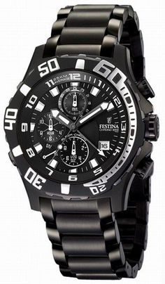 1d01e3abc14 Festina F16288 4 Men s Watch Ghost Rider Alarm Chronograph Black Stainless  Steel Black Stainless Steel