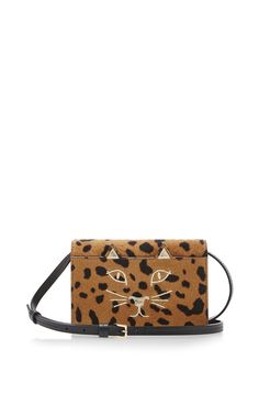 Calf Leather Hyena Feline Cross Body Bag by Charlotte Olympia Now Available on Moda Operandi
