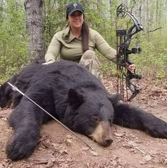 Prois hunting apparel is designed specifically for women hunters and those who are looking to get outdoors and be comfortable in technical hunting apparel. Bow Hunting Women, Hunting Girls, Bear Hunting, Stop Animal Cruelty, Get Outdoors, Hunting Clothes, Black Bear, Stupid, Weapons