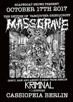 Long Live The Loud 666: OCTOBER 17 MASSGRAVE & KRIMINAL IN CLUB CASSIOPEIA...