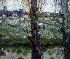 Orchard in Blossom with View of Arles April 1889, Arles Oil on canvas, 72 x 92 cm Neue Pinakothek, Munich