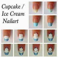 Just 4 u : Cupcakes Nail Art Tutorial