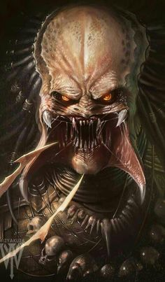 Which Predator type do you like the most? Predator by DeviantArt artist Ceasar Ian Muyuela. Alien Vs Predator, Predator Movie, Predator Alien, Predator Series, Wolf Predator, Digital Art Illustration, Art Visionnaire, Alien Art, Alien Alien