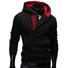 Mens Side Zipper Hoodies Mens Jersey Sports Outdoor Turn Down Collar Hooded Sweatshirts at Banggood