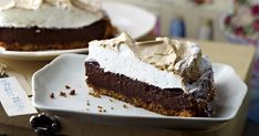 Chocolate Cheesecake with Meringue Topping Recipe