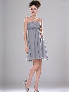 0a6a21346000 Hero - Γραμμή empire Στράπλες Σιφόν Φορέματα Κουμπάρας - EUR 78
