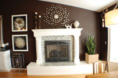 Stacked Stone Tile Fireplaces Design, Pictures, Remodel, Decor and Ideas - page 35