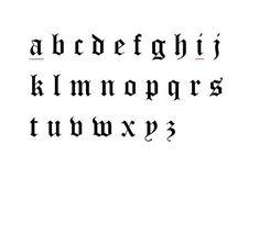 Ideas Tattoo Fonts Script Old English Tattoo Lettering Fonts, Lettering Styles, Tattoo Fonts Alphabet, Calligraphy Fonts Alphabet, Old English Tattoo, Cross Stitch Tattoo, Geometric Tatto, English Fonts, Initial Tattoo