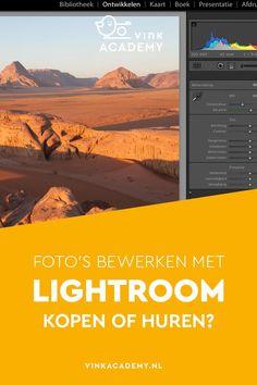 Lightroom: kopen of huren? Het is een veelgestelde vraag van beginnende fotografen. Lees in dit artikel (Nederlands) belangrijke informatie over de keuze voor dit fotobewerkingsprogramma van Adobe #fotobewerking
