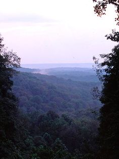 Indiana: Brown County State Park.  A gorgeous park, lots to do and LOVED the horseback riding trails! :)