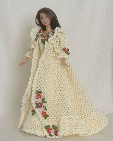 Hollys Crafts Blog: Hand crocheted Barbie Bed Doll French Bedoir