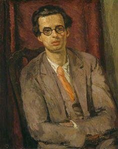 Vanessa Bell (UK, - Aldous Huxley - 1931 - oil on canvas - National Portrait Gallery, London Vanessa Bell, Aldous Huxley, Virginia Woolf, Dora Carrington, Duncan Grant, Bell Art, Bloomsbury Group, New Wave, Post Impressionism