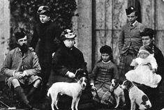 Left to right: Louis IV of Hesse, Princess Beatrice, Queen Victoria, Alix & Ernie of Hesse, Louischen of Connaught holding Arthur Queen Victoria Family, Queen Victoria Prince Albert, Victoria Reign, Victoria And Albert, Princess Beatrice, Princess Louise, Princess Alice, Smooth Fox Terriers, Parson Russell Terrier