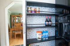 The Space-Saving Rolling Pantry: A DIY Tutorial - Zillow Porchlight Small Kitchen Storage, Diy Kitchen, Kitchen Organization, Organization Hacks, Kitchen Ideas, Kitchen Cabinets, Rolling Pantry, Planning And Organizing, Diy Woodworking