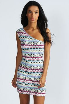 bodycon dress with pattern