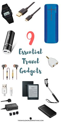 9 Essential Travel Gadgets | Must Have Backpacking Accessories | Best Tech Products For International Travel | Awesome Travel Tips | Best Electrical Gear For Travel Bloggers | Best Travel Watch | Best Bluetooth Speakers For Travel