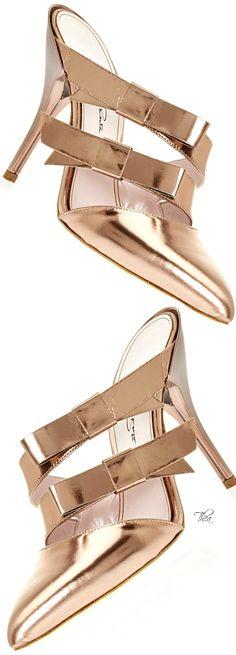 Oscar de la Renta ● 2015, Bow Mule In Copper