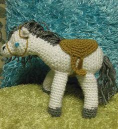 Crochet White Amigurumi Horse Toy