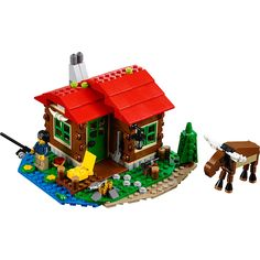 Build your own holiday retreat set in pleasant surroundings with a red, brown, green and blue color scheme and a cozy interior with a stove, bed and a table. Chop wood for the campfire, do a spot of fishing from the balcony or just enjoy the peace and tranquility together with the friendly moose and the tiny frog. When you feel like a change, rebuild to create an observatory or a small cabin.<br><br>The LEGO Creator Lakeside Lodge Building Toy Set 368 Pieces - 31048…