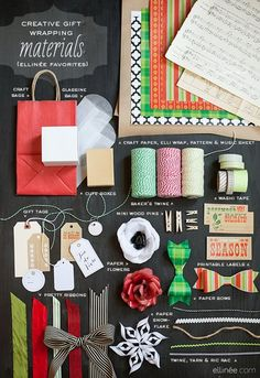 Creative gift wrap materials
