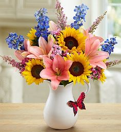 Celebrate #spring and send #smiles to someone special with our Springtime Wishes arrangement! $54.99