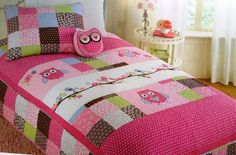 Maggie & Zoe Spring Owl Applique quilt - similar to the one Elle has