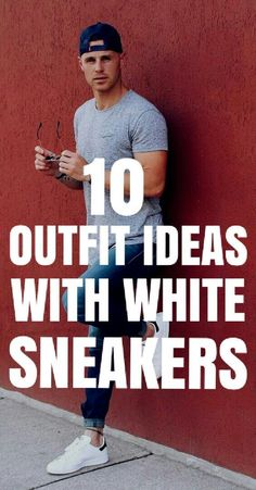 Today we're going to share how to wear white sneakers for men. 10 outfit ideas you can try with your white sneakers. Yes, you can wear your white sneakers Sneakers Outfit Men, White Sneakers Outfit, White Casual Shoes, Sneakers Fashion, Fashion Shoes, Mens Fashion Blog, Best Mens Fashion, Men's Fashion, Guys Grooming