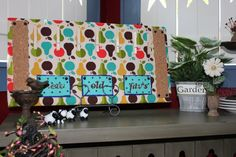 Pear Menu Board by TheKraftyNikNaker on Etsy, $34.99 shipping included!!