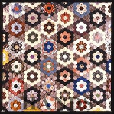 patchwork quilt patterns free | Patchwork Hexagon Pattern Free Quilting Pictures