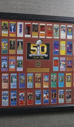 Limited to just 500 pieces, this impressive 36 x 40 framed presentation showcases replica tickets from Super Bowls I through XLIX, plus a replica ticket from the upcoming Super Bowl 50.