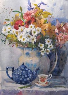 Geoffrey Wynne Watercolors - Watercolours: Flowers - Flowers