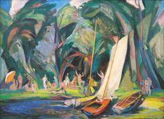 "Henrikh Hechiporenko (©1993 artmajeur.com/henrikh-hechiporenko) ""Summer"", 1993, oil on the canvas, 60x80 cm"