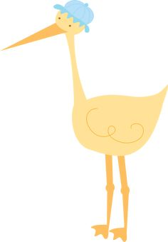 ClipArt.Stork_Yellow_Blue.png (1113×1600)