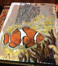 Clown Fish Art Journal Page - Gwen Lafleur