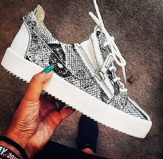 Image via We Heart It https://weheartit.com/entry/146852544 #fashion #luxury #shoes #sneakers #street #style #guiseppezanotti #zanotti