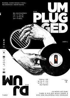 DJ at UM / UMplugged poster by Gen Design Studio