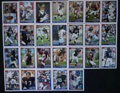 1991 Topps Chicago Bears Team Set of 26 Football Cards #ChicagoBears