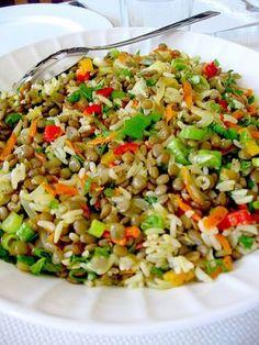 YEŞİL MERCİMEK SALATASI or Green Lentil Salad from My Turkish Kitchen