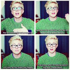 Tyler Oakley and I think SO ALIKE. ' 'Nuff said.