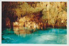 Snorkelling the caves of Dos Ojos, Yucatan, Mexico. 1999.