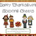Free:This is an 11 page black line Thanksgiving themed coloring page set...