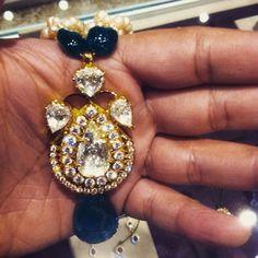 Rosecut diamonds, columbian emeralds and basra pearls jugni.