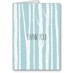 White Birch Trees Greeting Card
