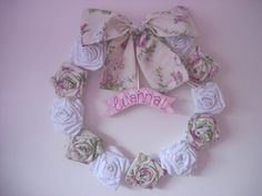 guirlanda porta de maternidade rosas