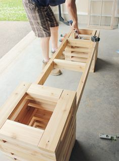 #SummerDIYChallenge with @Home Depot Canada  // How to Make a Cedar Bench {via My. Daily. Randomness.}