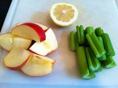 Ingredients for Apple Celery Lemon Juice